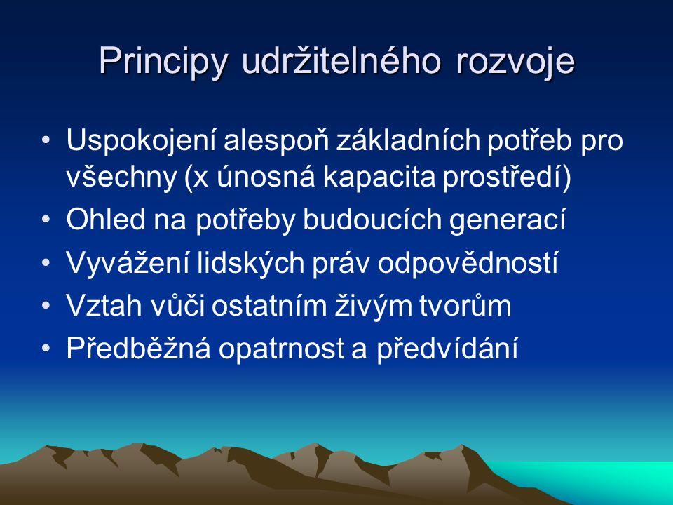 Principy udržitelného rozvoje