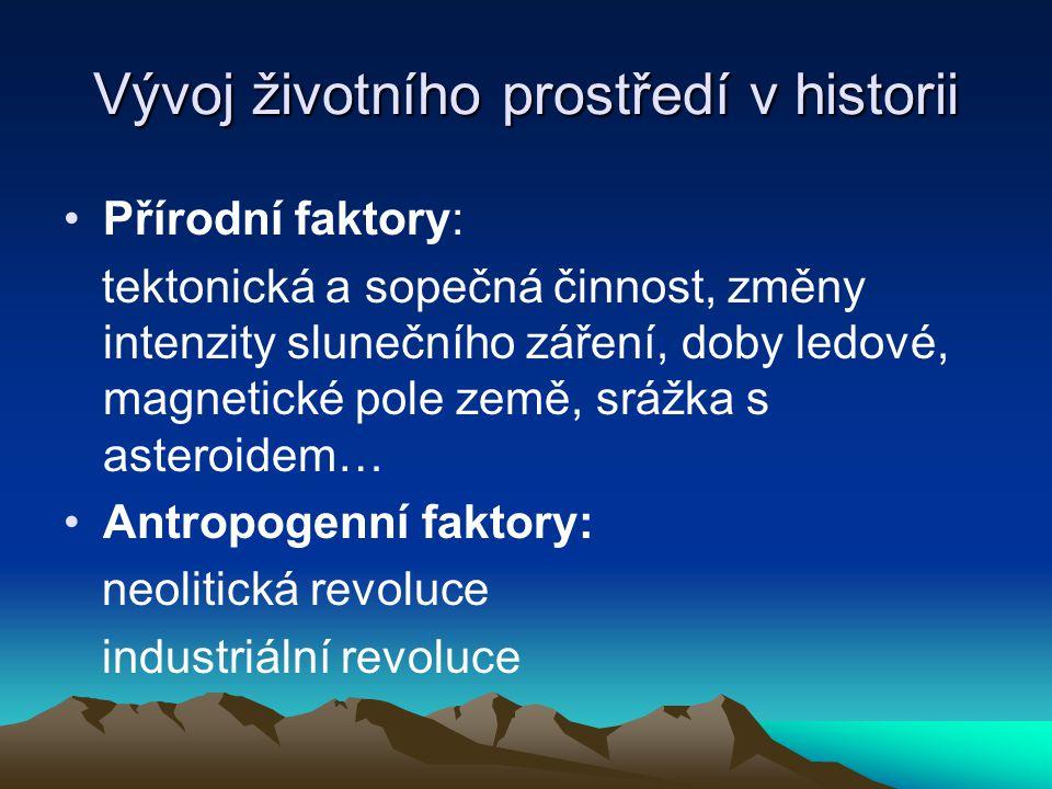 Vývoj životního prostředí v historii