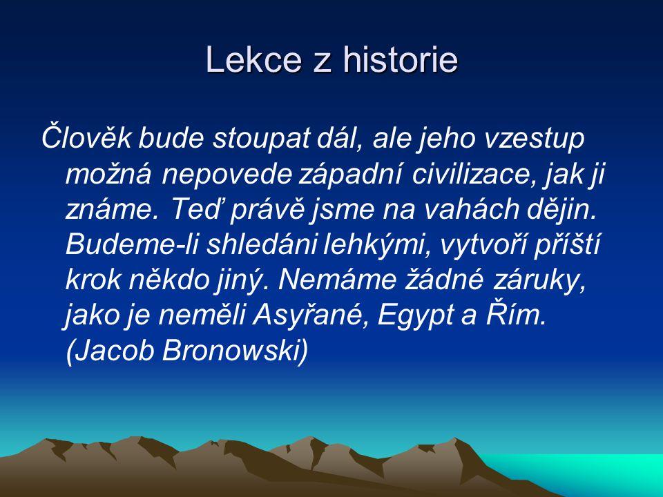 Lekce z historie