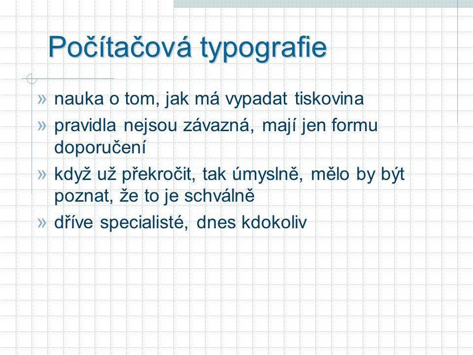 Počítačová typografie