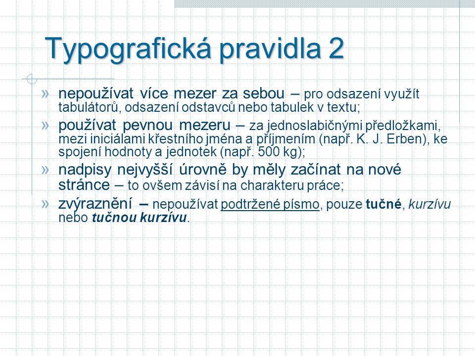 Typografická pravidla 2