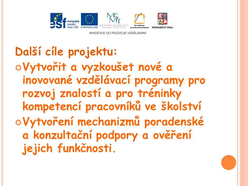 Další cíle projektu: