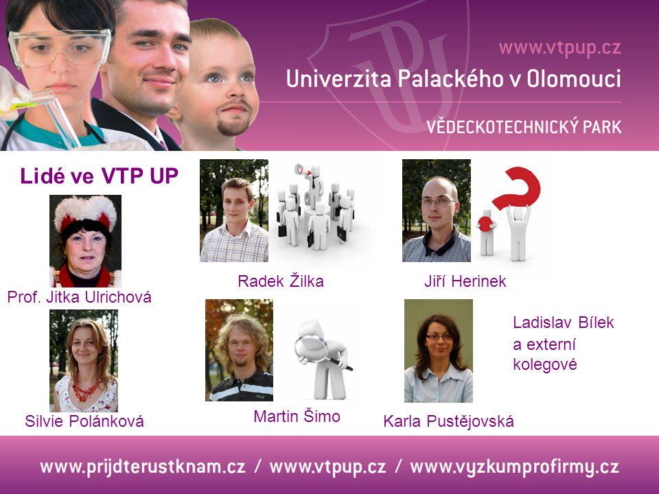 Lidé ve VTP UP Radek Žilka Jiří Herinek Prof. Jitka Ulrichová