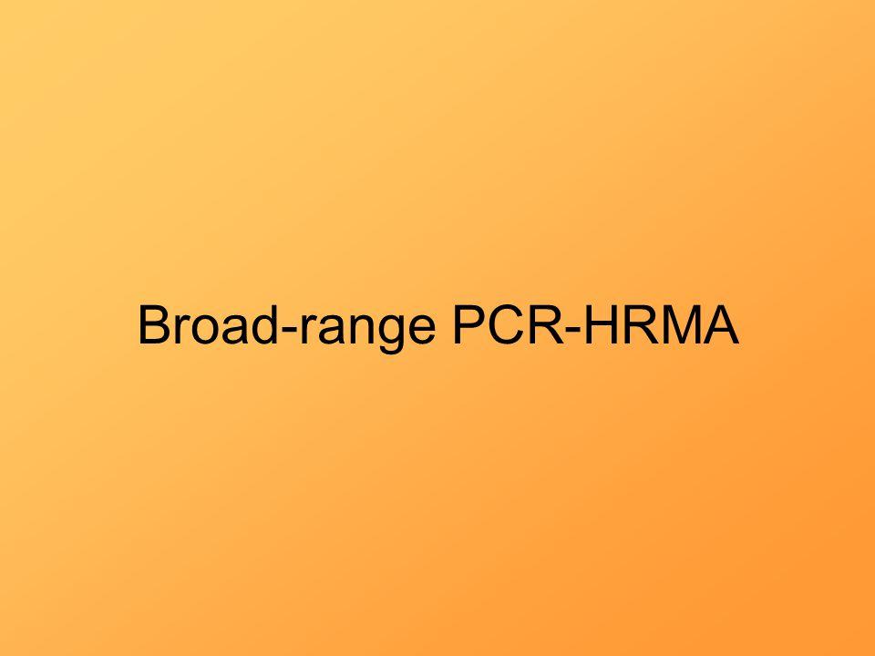 Broad-range PCR-HRMA
