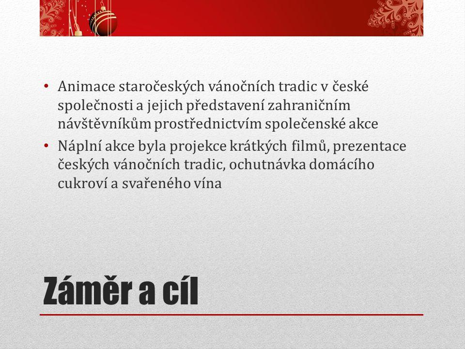 Animace staročeských vánočních tradic v české společnosti a jejich představení zahraničním návštěvníkům prostřednictvím společenské akce