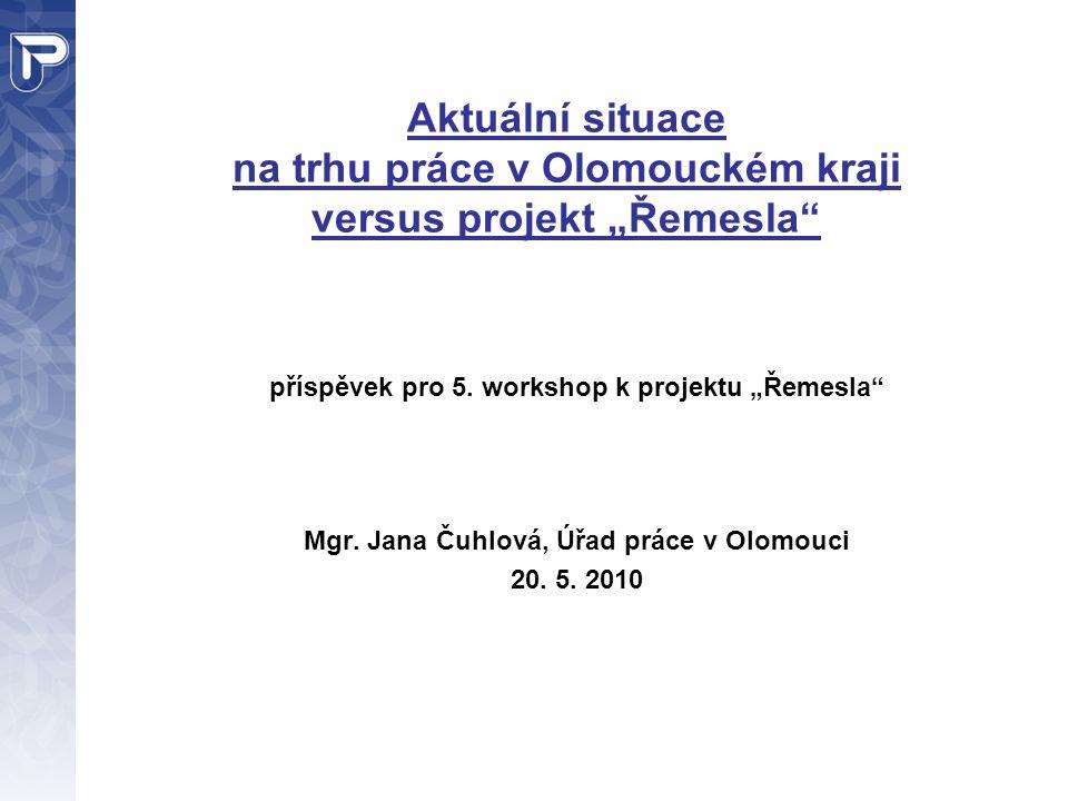 """Aktuální situace na trhu práce v Olomouckém kraji versus projekt """"Řemesla"""