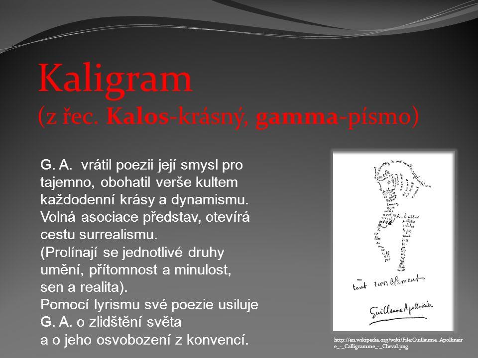 Kaligram (z řec. Kalos-krásný, gamma-písmo)