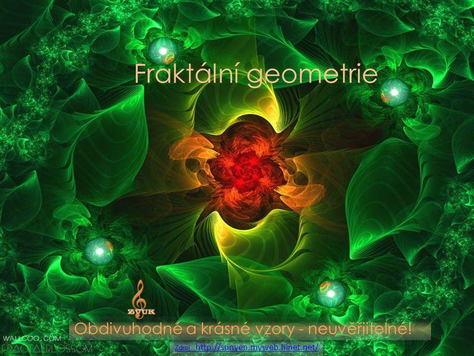 Fraktální geometrie Obdivuhodné a krásné vzory - neuvěřiitelné!