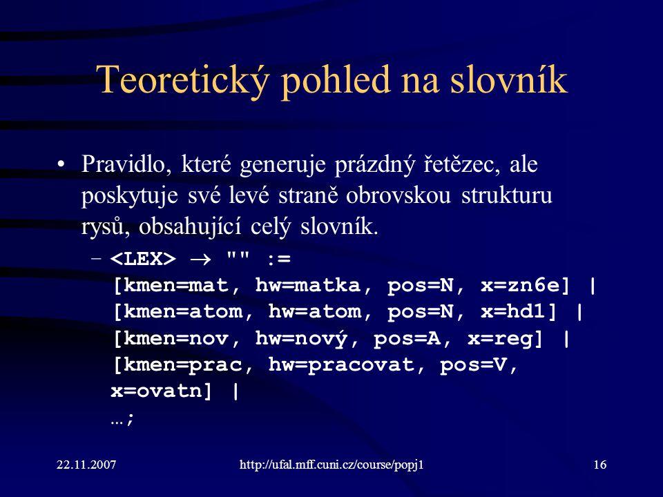 Teoretický pohled na slovník