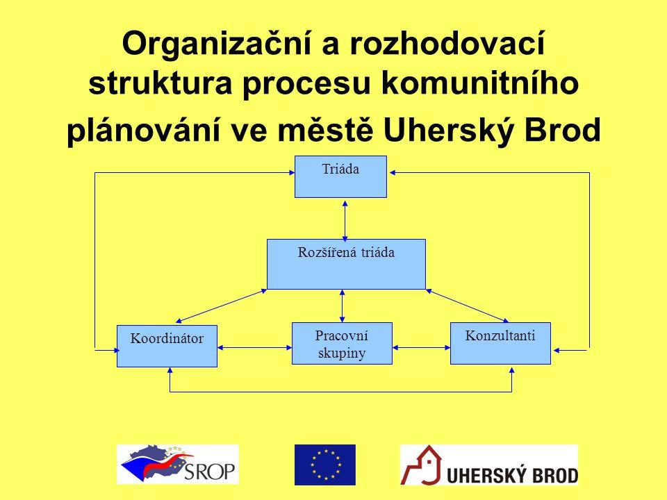 Organizační a rozhodovací struktura procesu komunitního plánování ve městě Uherský Brod