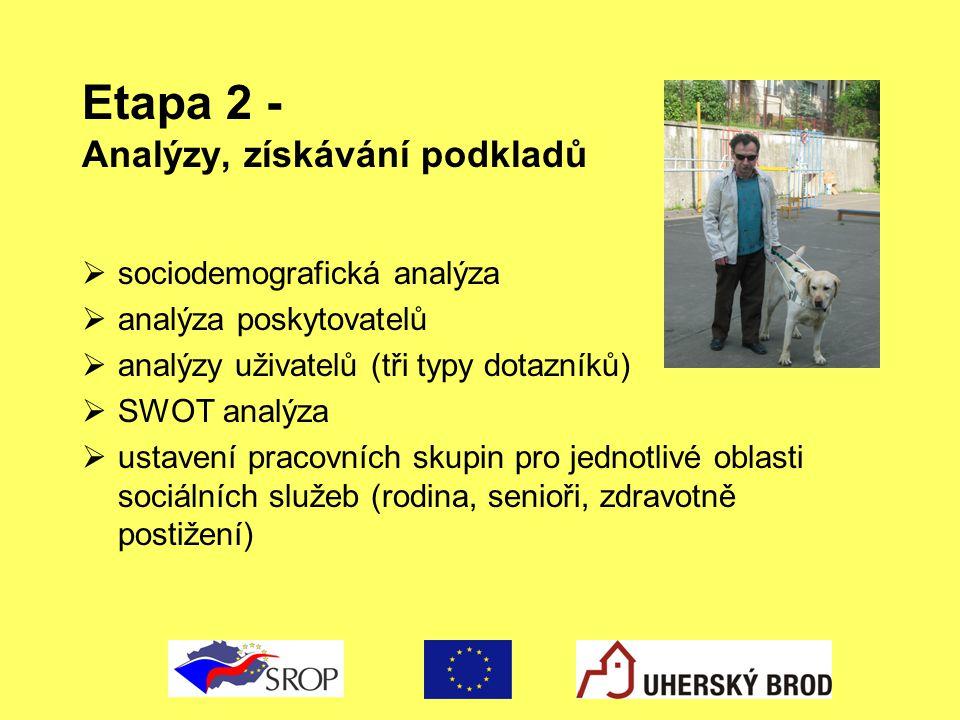 Etapa 2 - Analýzy, získávání podkladů