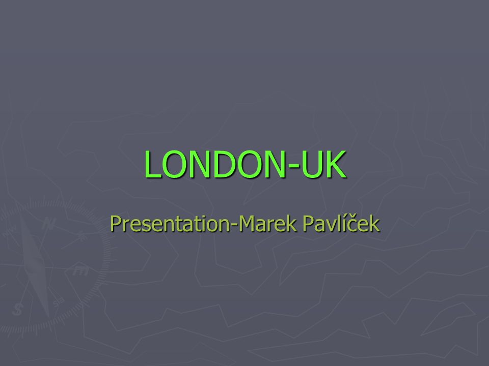 Presentation-Marek Pavlíček