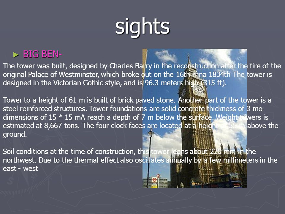 sights BIG BEN-