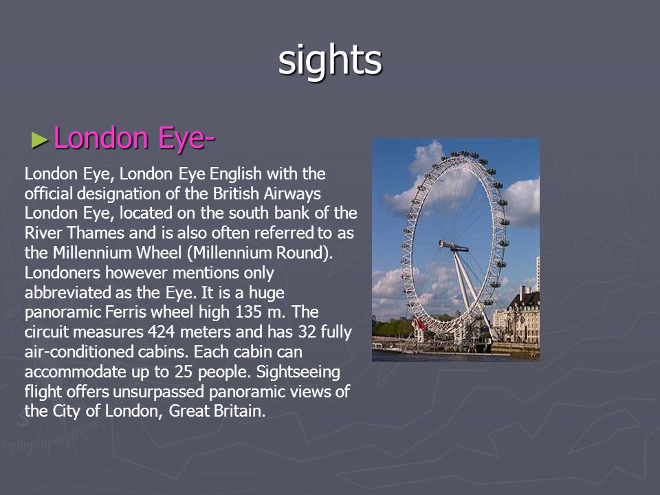 sights London Eye-