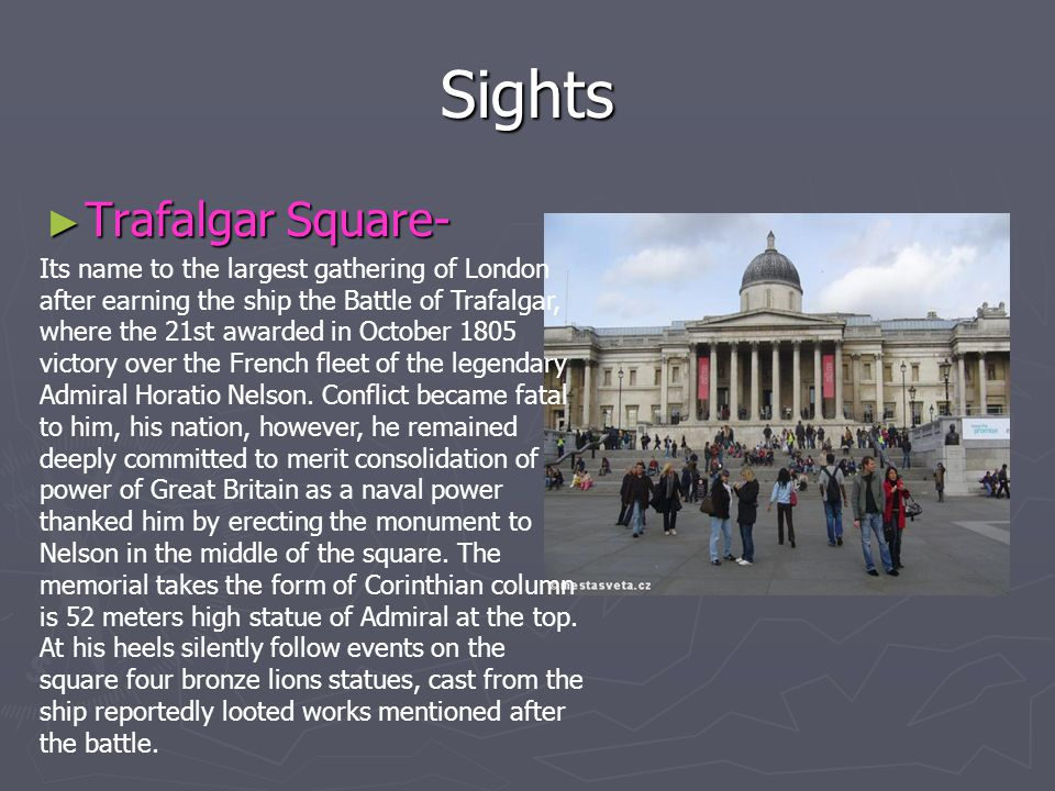 Sights Trafalgar Square-