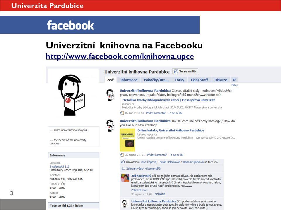 Univerzitní knihovna na Facebooku