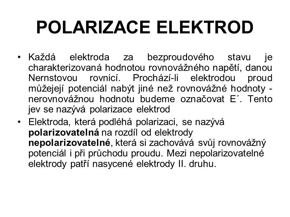 POLARIZACE ELEKTROD