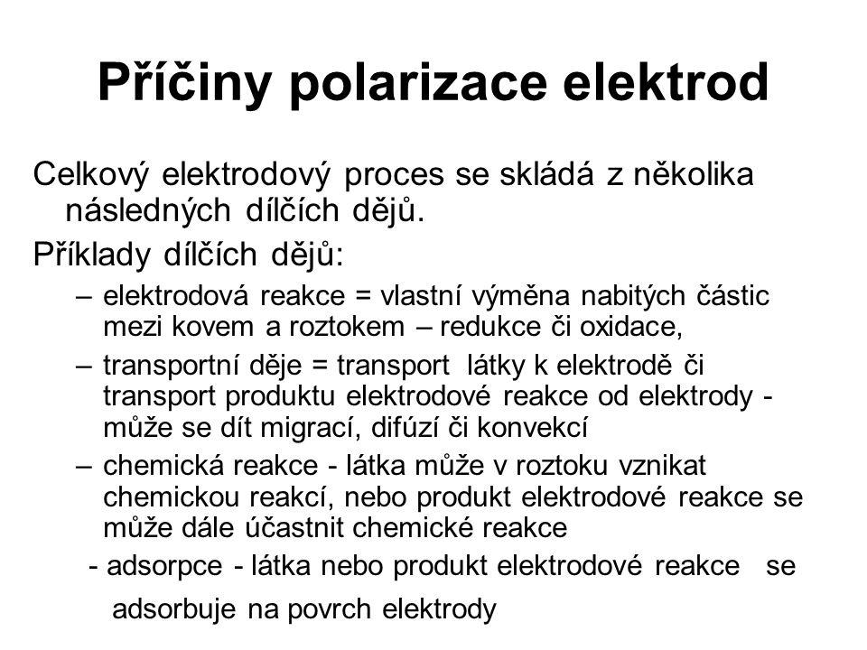 Příčiny polarizace elektrod