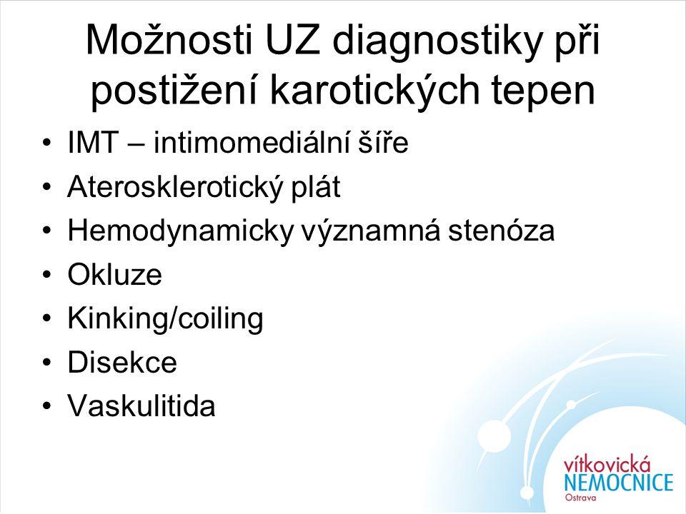 Možnosti UZ diagnostiky při postižení karotických tepen