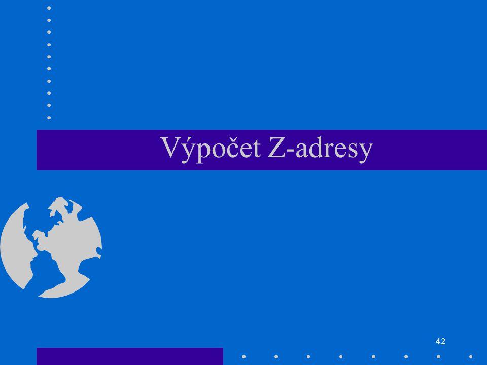 Výpočet Z-adresy