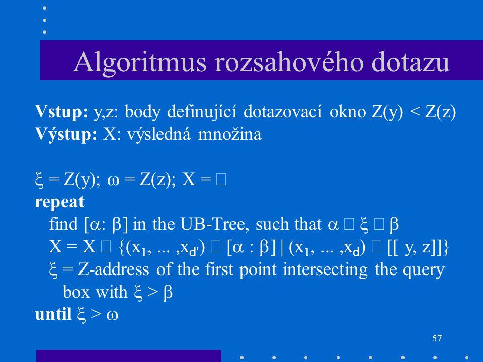 Algoritmus rozsahového dotazu