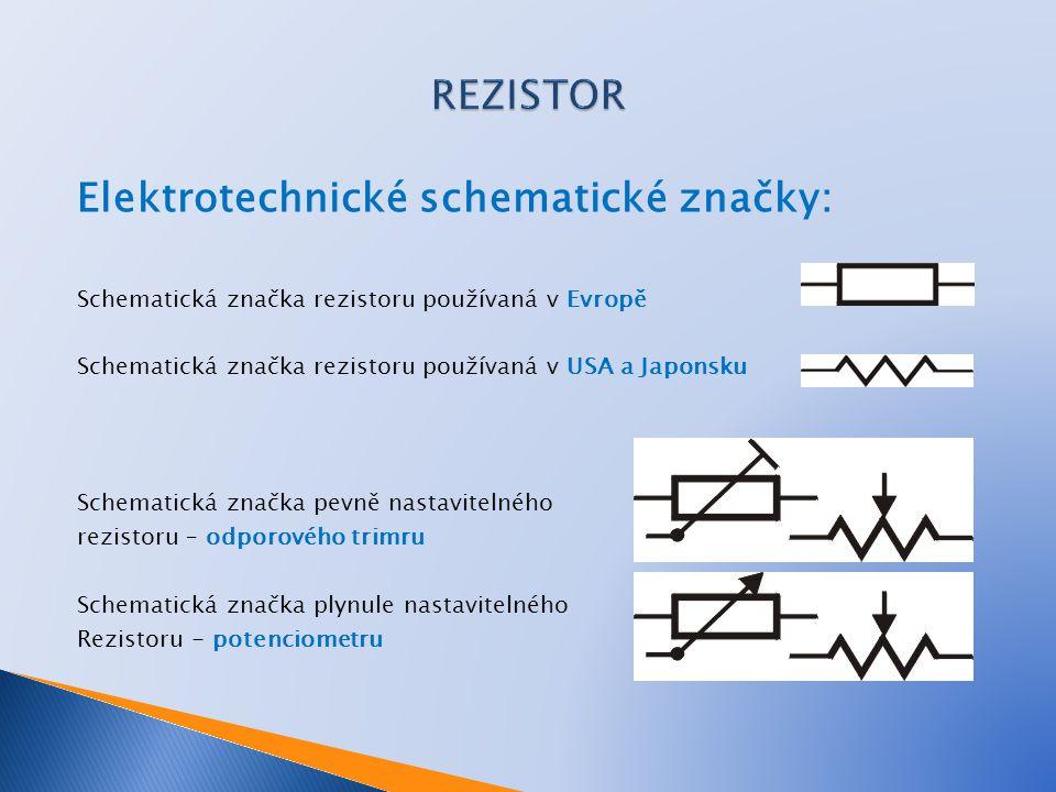 Elektrotechnické schematické značky: