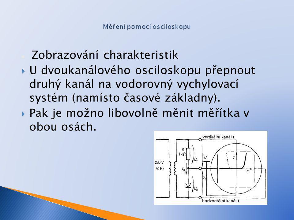 Měření pomocí osciloskopu
