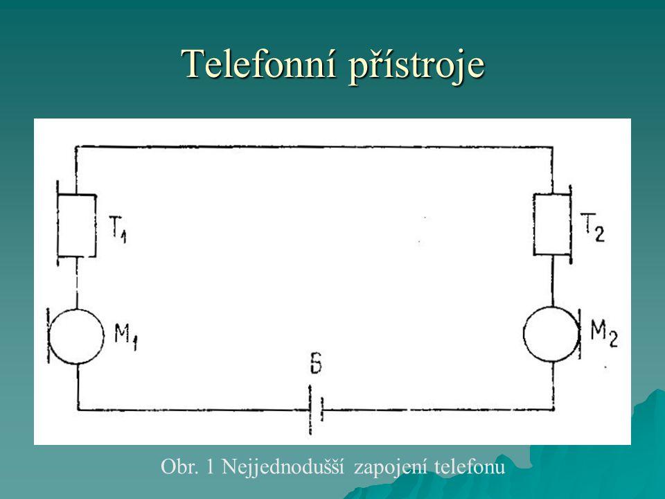 Obr. 1 Nejjednodušší zapojení telefonu