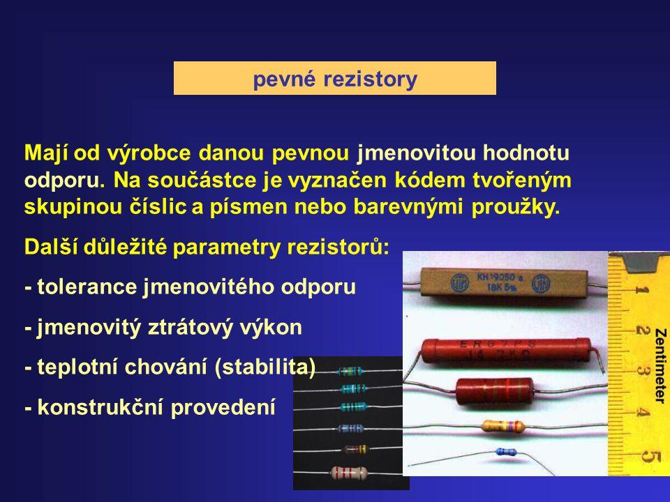 pevné rezistory