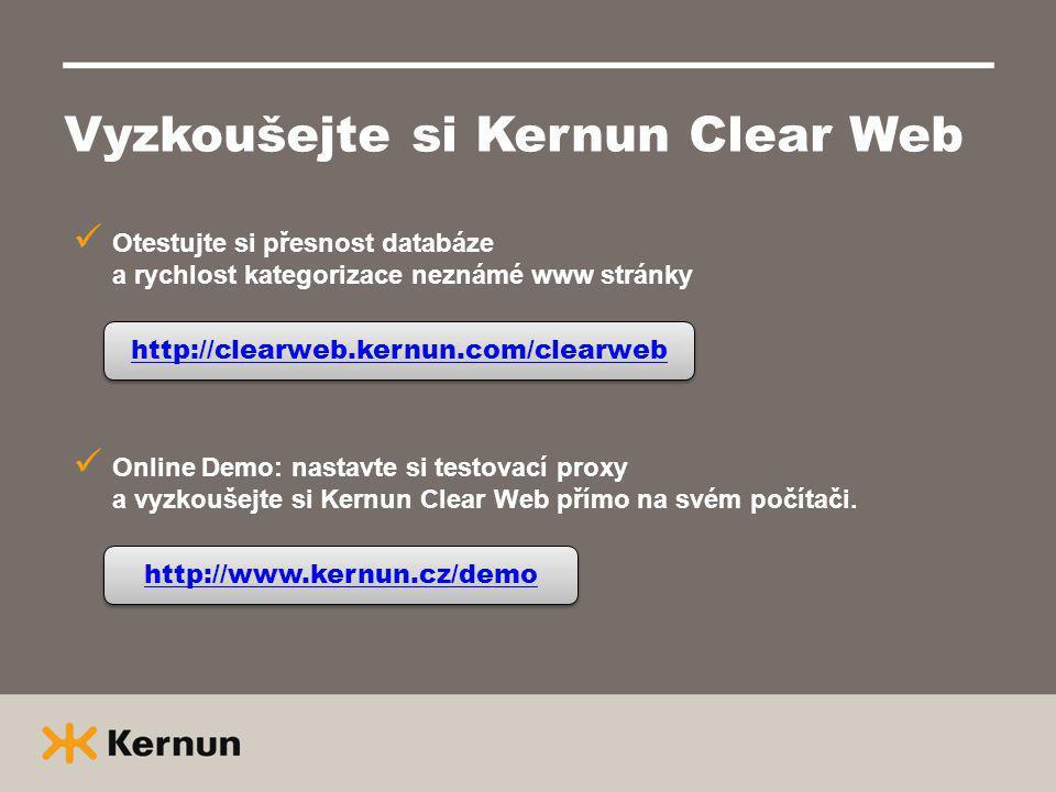Vyzkoušejte si Kernun Clear Web