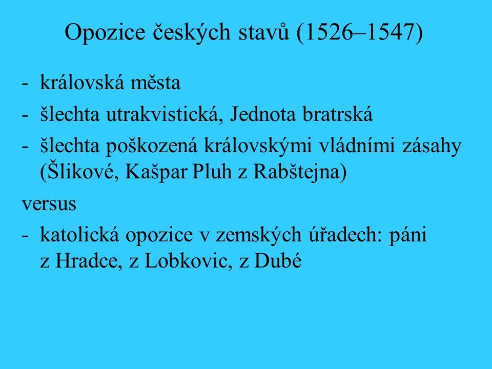 Opozice českých stavů (1526–1547)