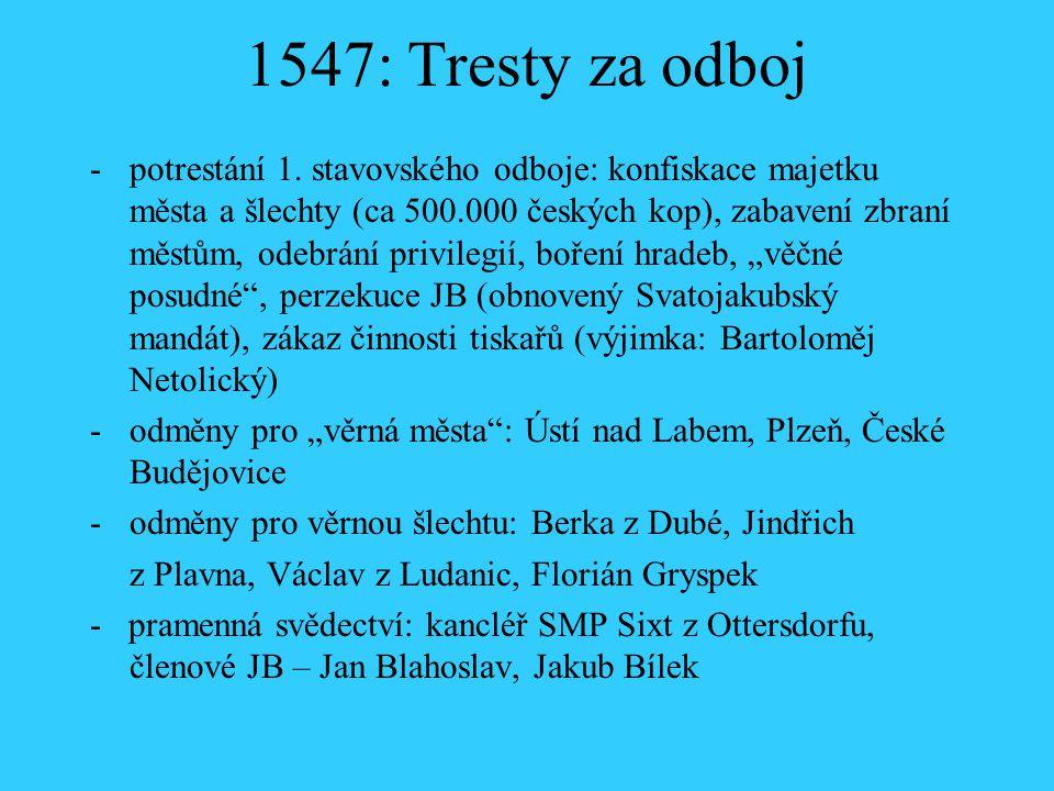 1547: Tresty za odboj
