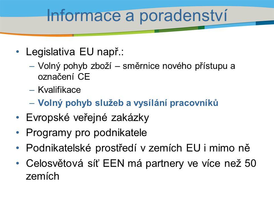 Informace a poradenství