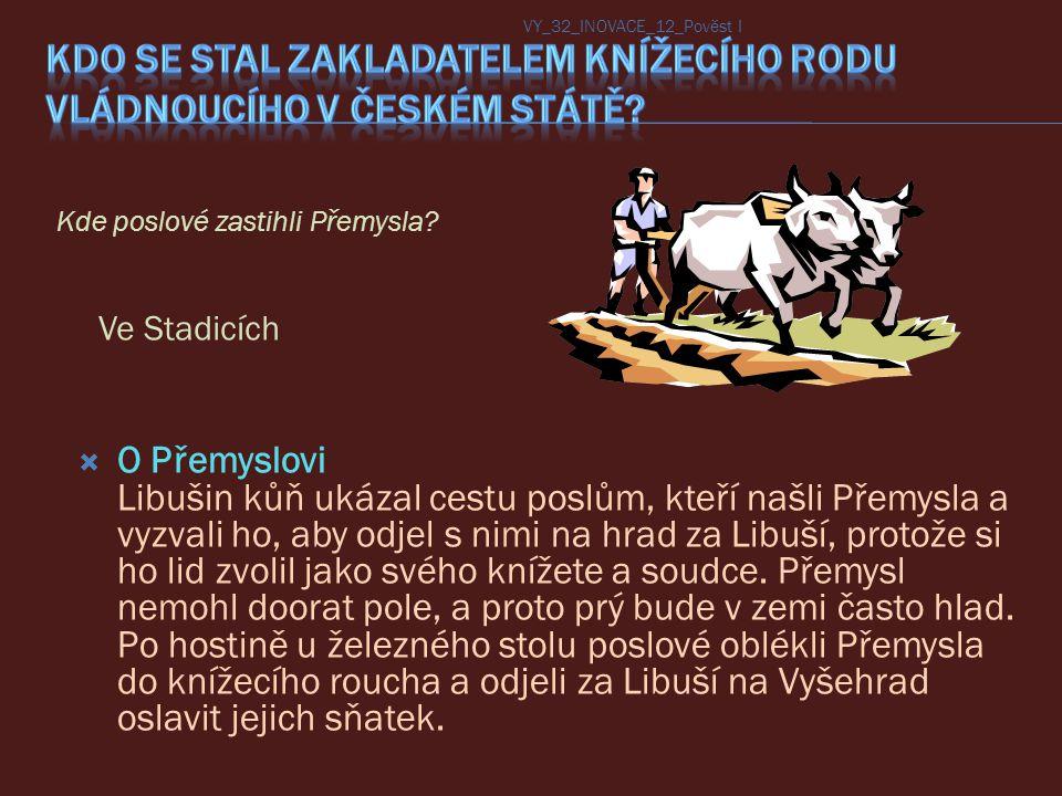 Kdo se stal zakladatelem knížecího rodu vládnoucího v českém státě