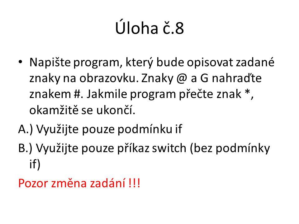 Úloha č.8
