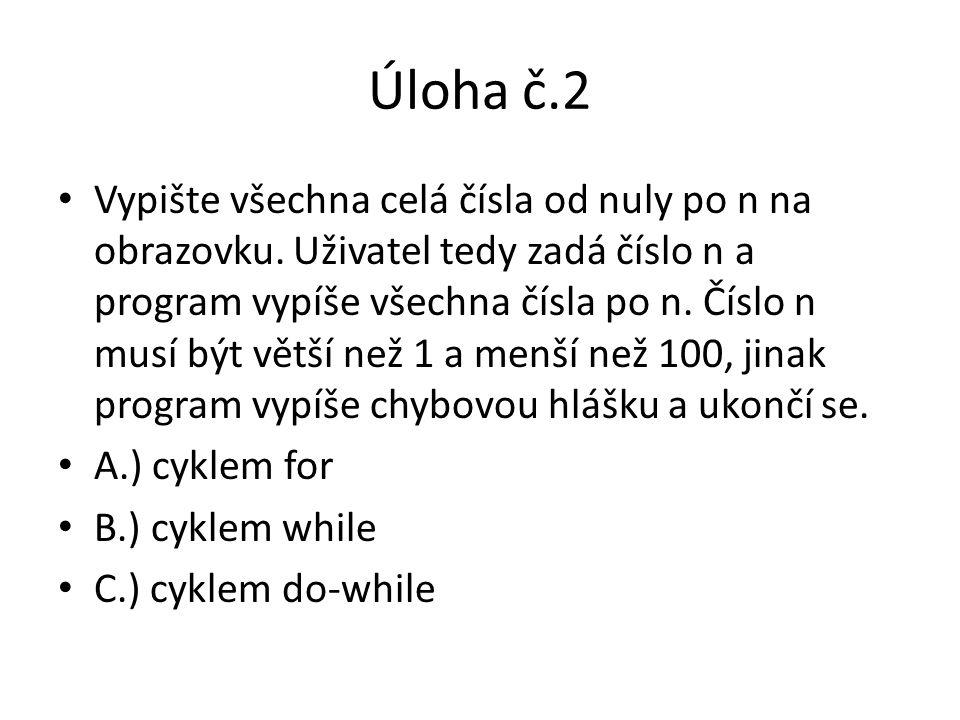 Úloha č.2