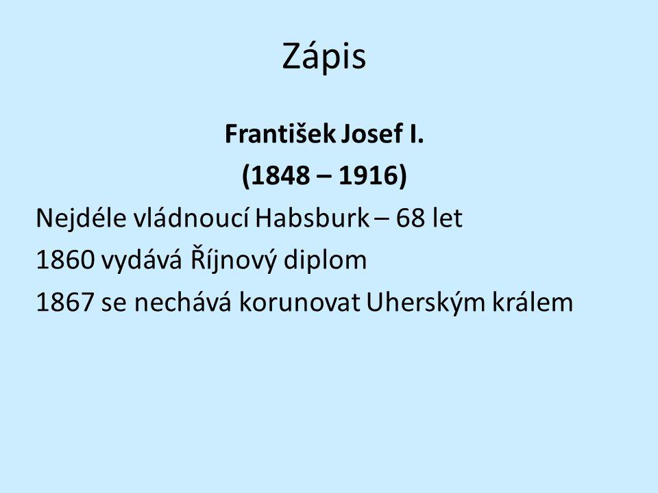 Zápis František Josef I.