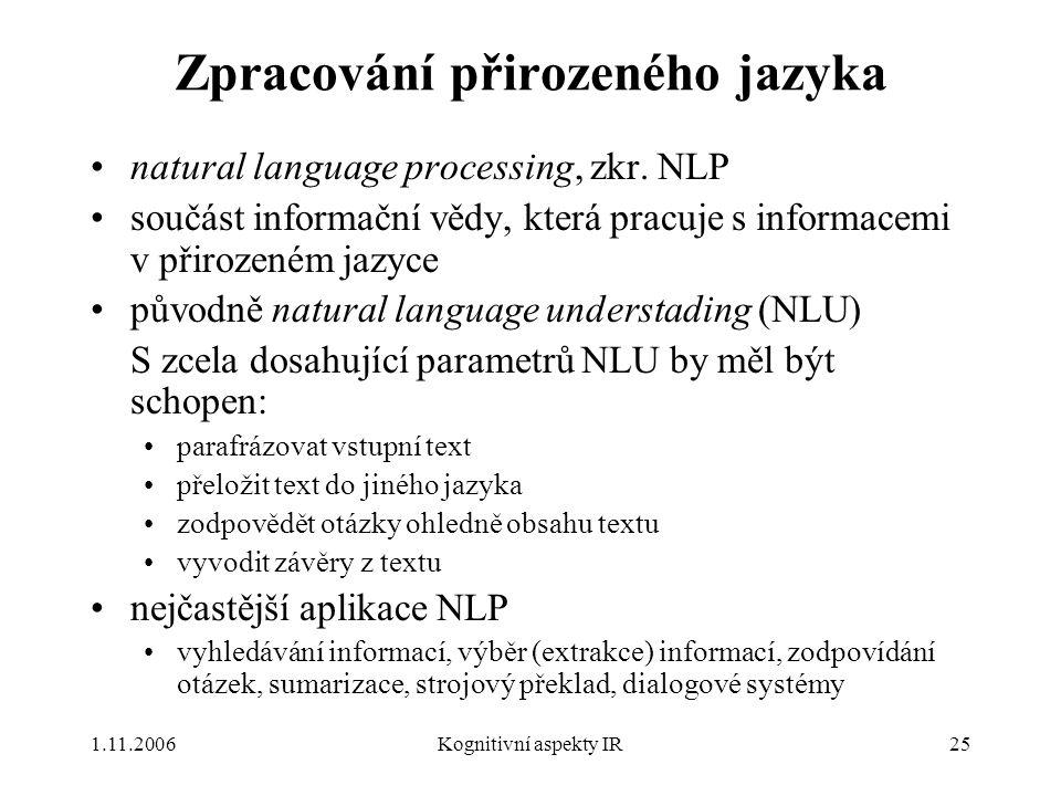 Zpracování přirozeného jazyka