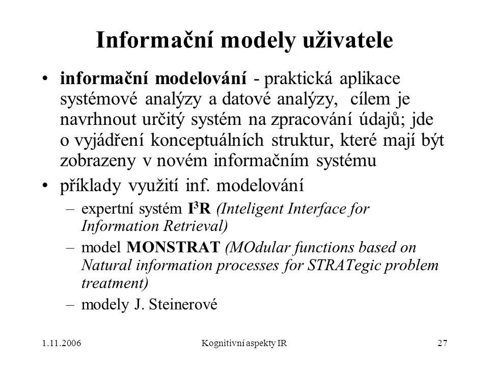 Informační modely uživatele
