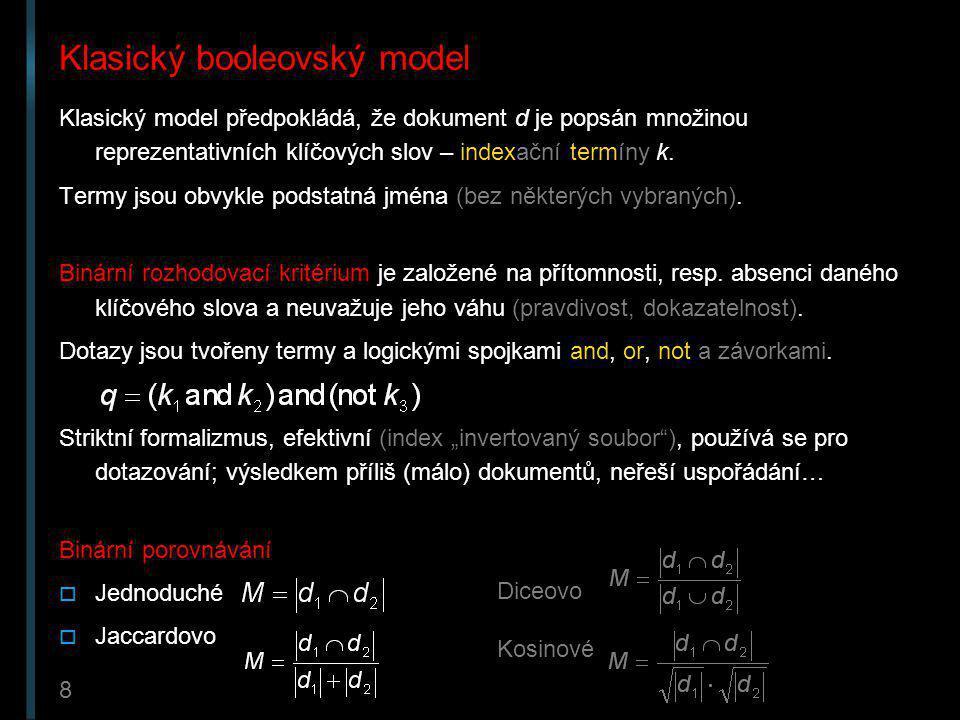 Klasický booleovský model