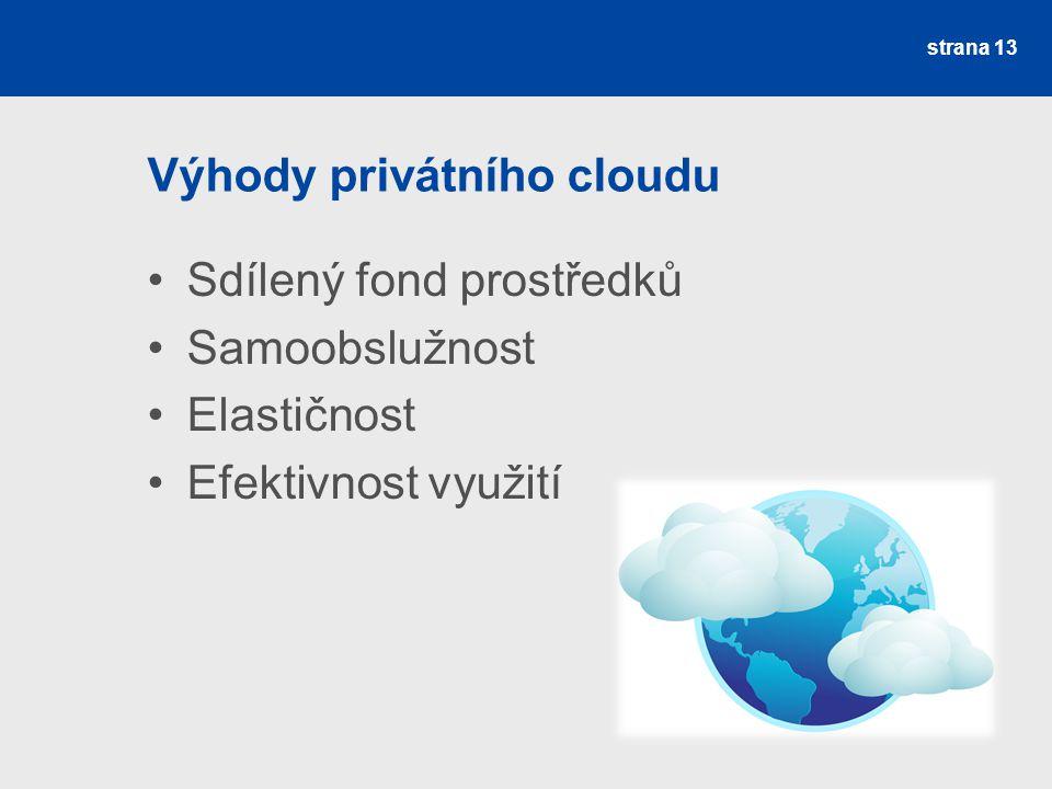 Výhody privátního cloudu