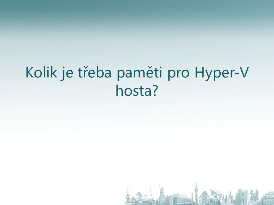 Kolik je třeba paměti pro Hyper-V hosta