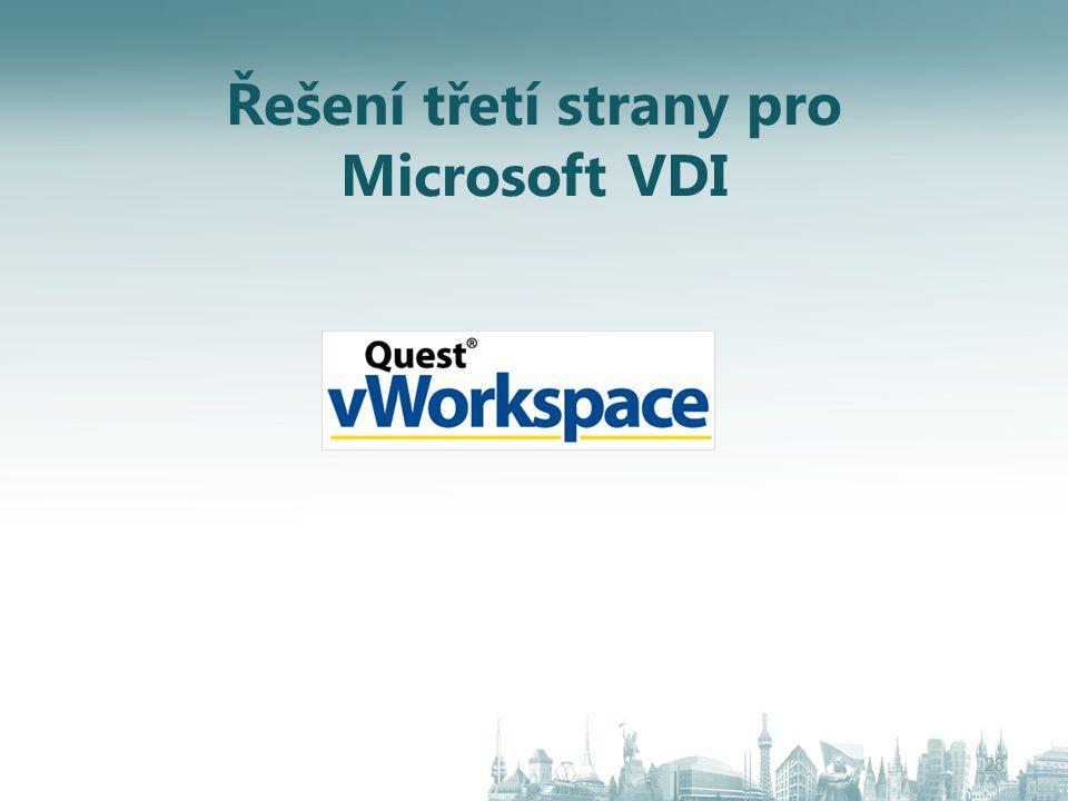 Řešení třetí strany pro Microsoft VDI