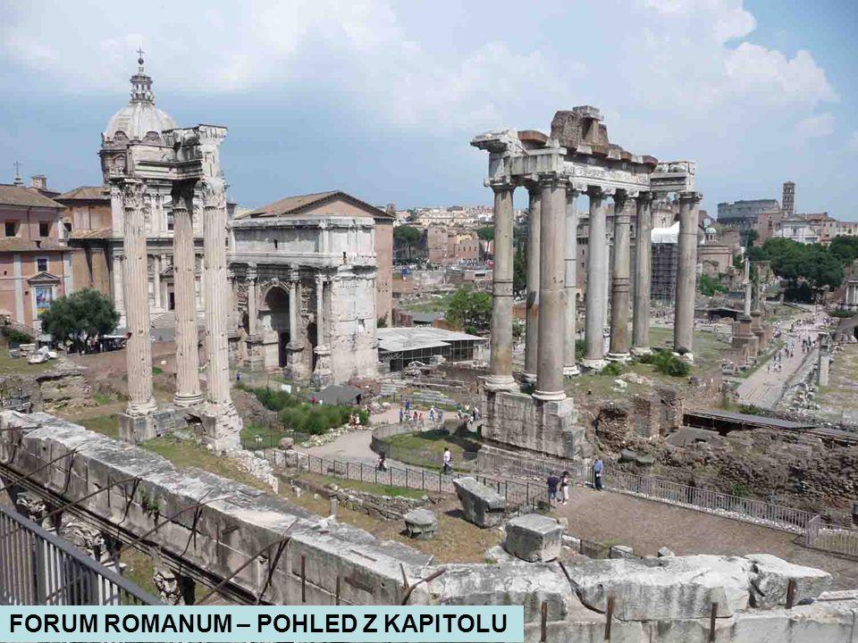 FORUM ROMANUM – POHLED Z KAPITOLU