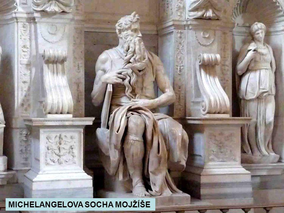 MICHELANGELOVA SOCHA MOJŽÍŠE