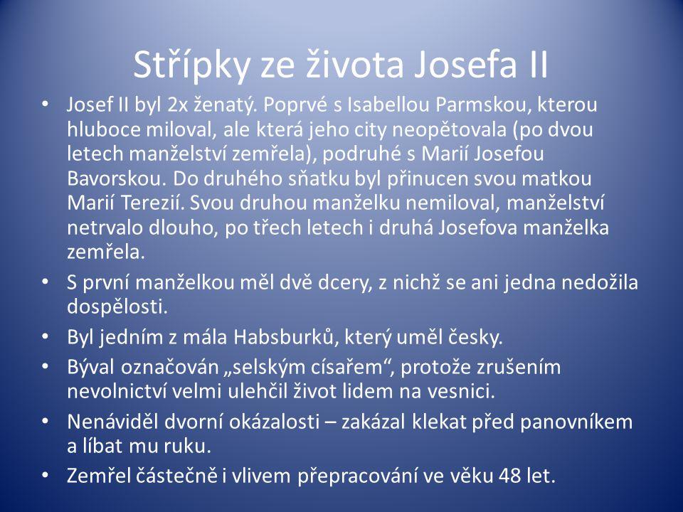 Střípky ze života Josefa II