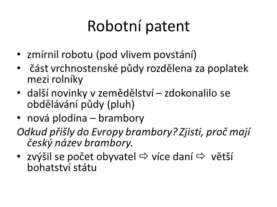 Robotní patent zmírnil robotu (pod vlivem povstání)