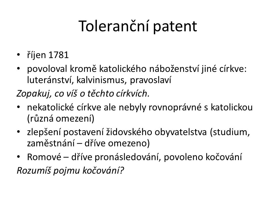 Toleranční patent říjen 1781