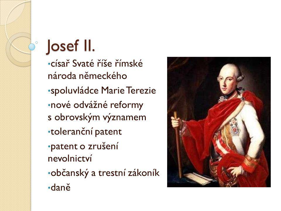 Josef II. císař Svaté říše římské národa německého
