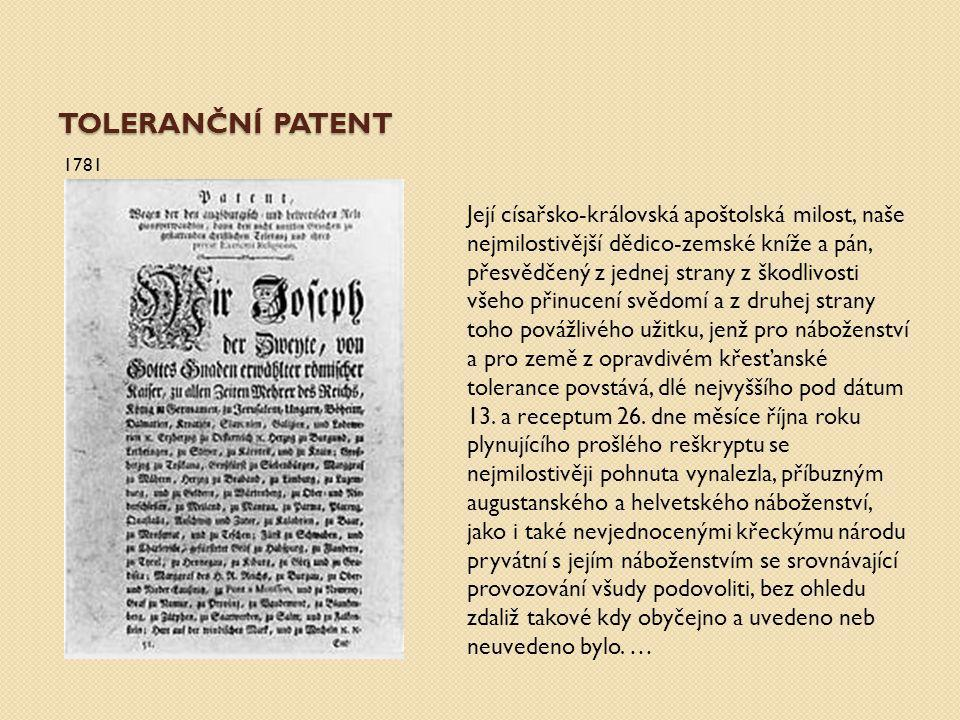 Toleranční patent 1781.